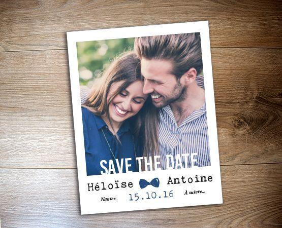Save the date magnet polaroïd par