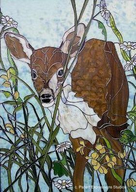 43 Best Stained Glass Deer Elk Images On Pinterest