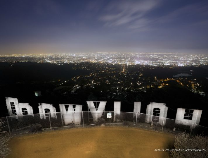 Hollywood Sign LA Skyline