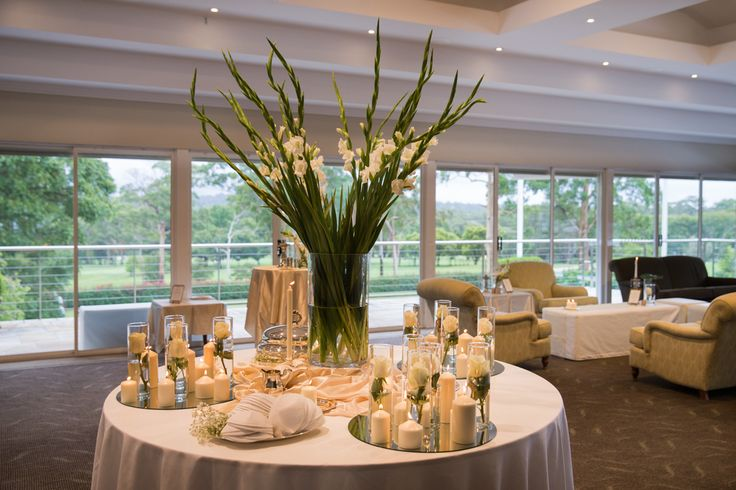 wedding reception set up for cocktail style party