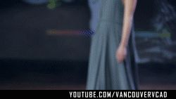 Gull Grey Long Dress by Zoe Collins  Subscribe to VCAD: http://www.youtube.com/subscription_center?add_user=VancouverVCAD   #Gull #Grey #Long #Dress #by #Zoe #Collins