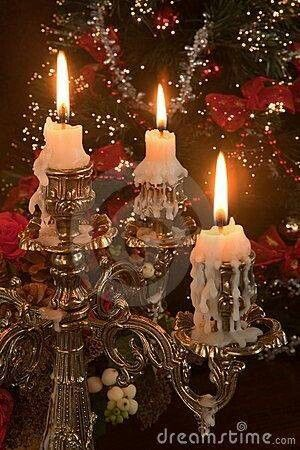 Christmas looks better by candlelight....