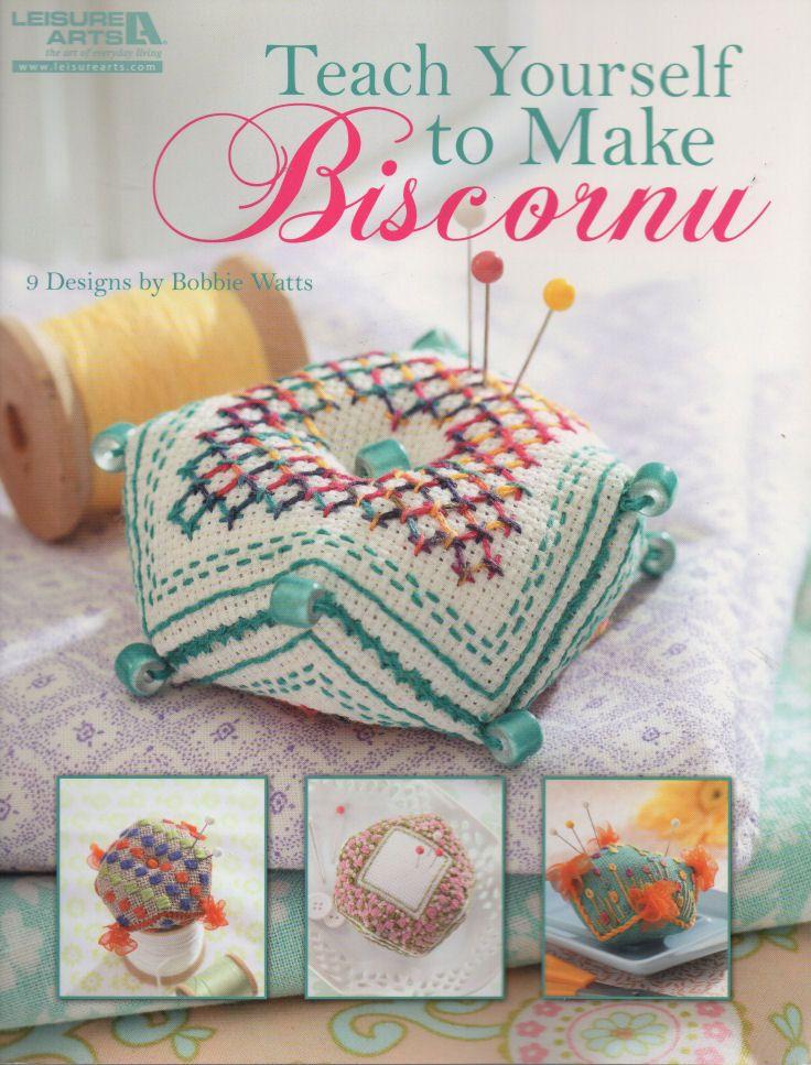 Cross Stitch Book Teach Yourself to Make Biscornu by Leisure Arts, Craft Book by NeedleAndCrafts on Etsy