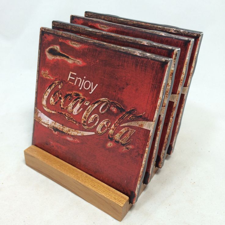 "HANDMADE ""Coca Cola"" Drink Coasters 
