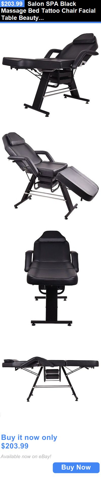 Massage Tables and Chairs: Salon Spa Black Massage Bed Tattoo Chair Facial Table Beauty Basket Adjustable BUY IT NOW ONLY: $203.99
