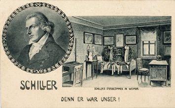 Kort na de dood van Schiller werd diens Lied von der Glocke opgevoerd; Goethe schreef in de epiloog: Denn er war unser!