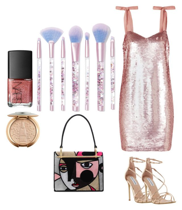 """""""Ready Set Glow!"""" by penkreitto on Polyvore featuring NARS Cosmetics, Lime Crime, J.Crew, Steve Madden and Prada"""
