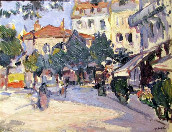 S.J. Peploe - A Street in Paris, 1911