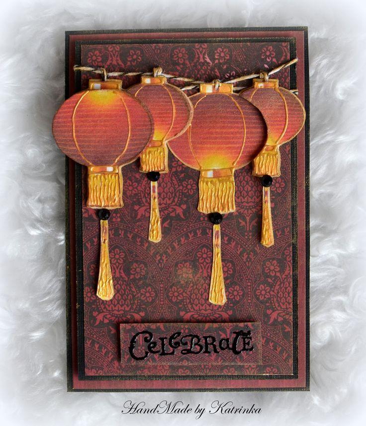 "Sparkles of Imagination : Открытка ""Китайские фонарики"""