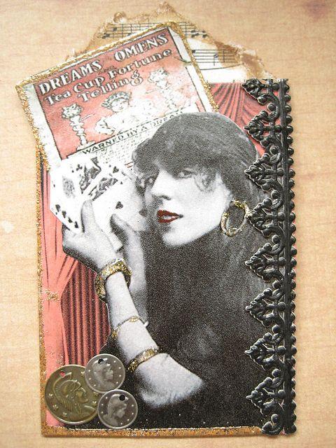 Vintage Fortune Teller Photograph ATC