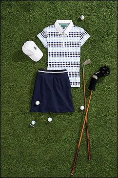 FASHION FOR THE FAIRWAYS  Tommy Hilfiger has introduced a trendy new ladies golf collection for 2014. The spring golf collection for ladie...