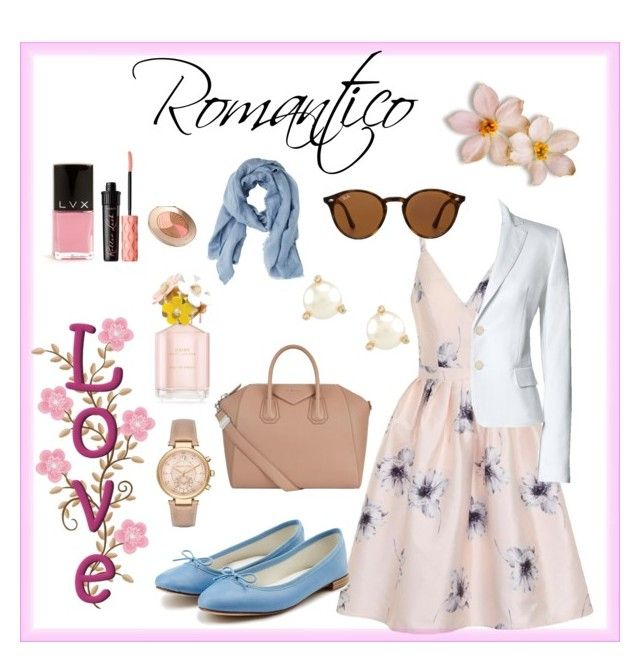 Romantico by carlablasco on Polyvore featuring moda, Chi Chi, Canvas by Lands' End, Repetto, Givenchy, Michael Kors, Kate Spade, Ray-Ban, MANGO and Benefit