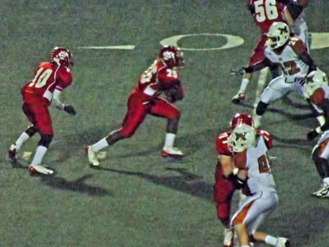 Terrell vs West Mesquite Texas high school football 2010.
