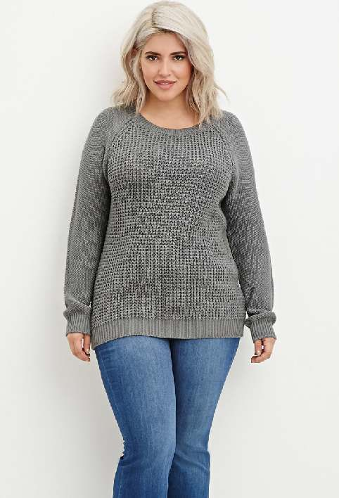 Модный свитер для полных фото