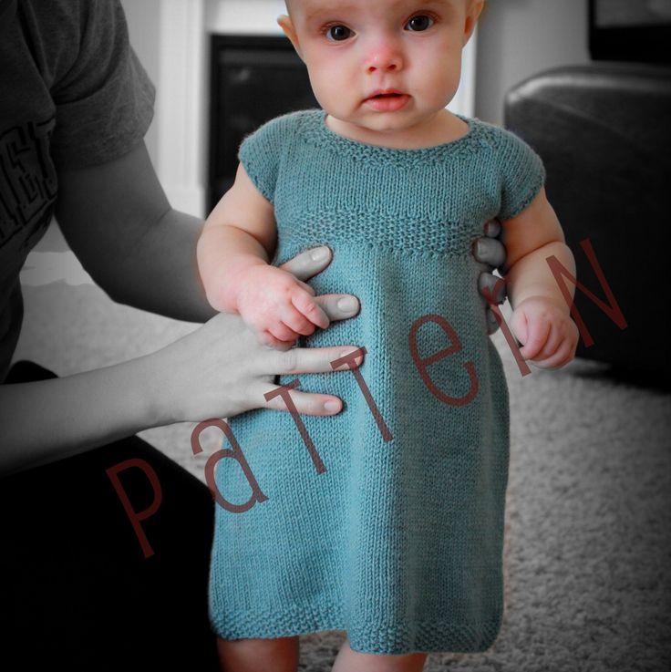 Sadie Baby Dress Pattern Sizes newborn to 18 mo. (pdf knitting pattern file). $5.99, via Etsy.