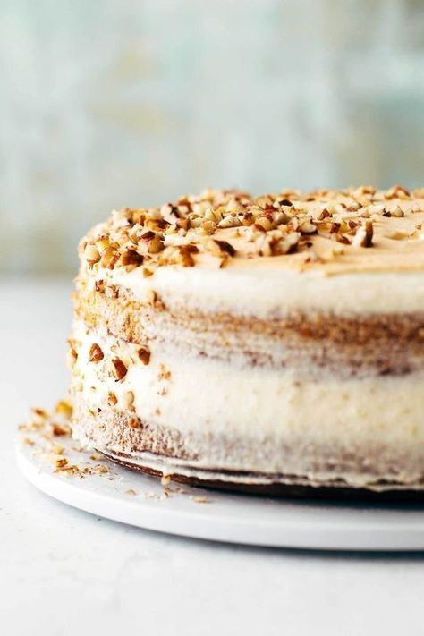 Marbled Pumpkin Cake with Maple Frosting   Rezept