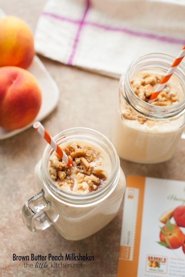 Brown Butter Peach Milkshakes / 17 Milkshakes That Bring All The Boys To The Yard (via BuzzFeed)