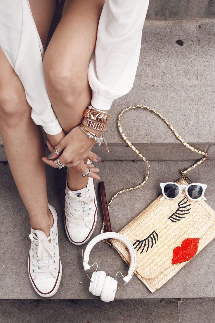 white converse <3 casual outfit for weekends