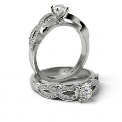 Inel de logodna Lux cu diamante Boris din aur alb