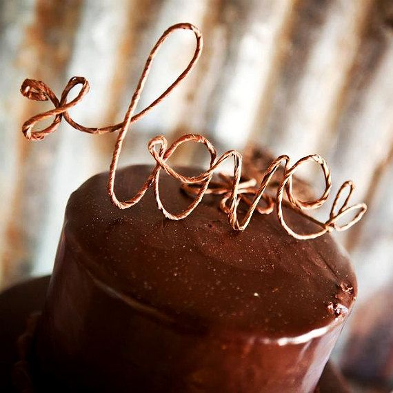Rustic LOVE Cake Topper, Table Centerpiece - Perfect for Rustic Wedding, Shabby Chic Wedding, Garden Party. $24.00, via Etsy.