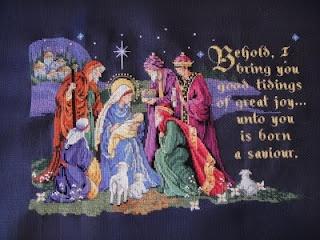Little Miss Busy: Project Gabriel - Christmas Cross Stitch Nativity Scene
