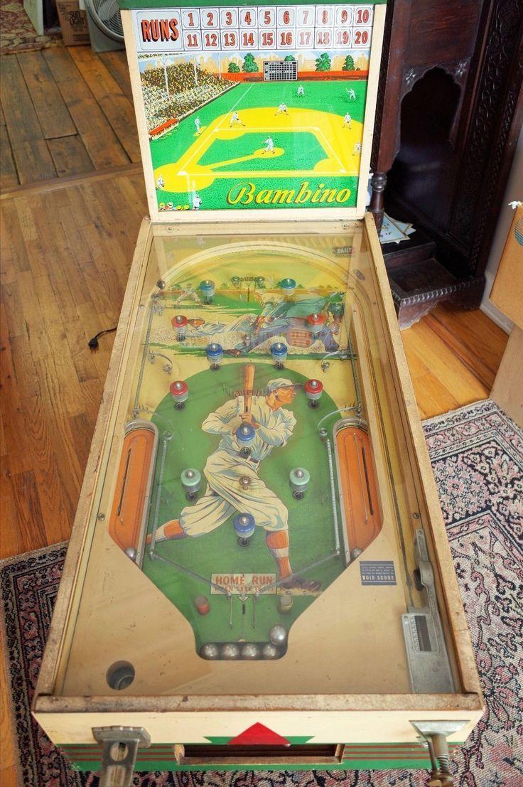 Rare circa 1938 Bally Babe Ruth Baseball Bambino Pinball Machine picclick.com