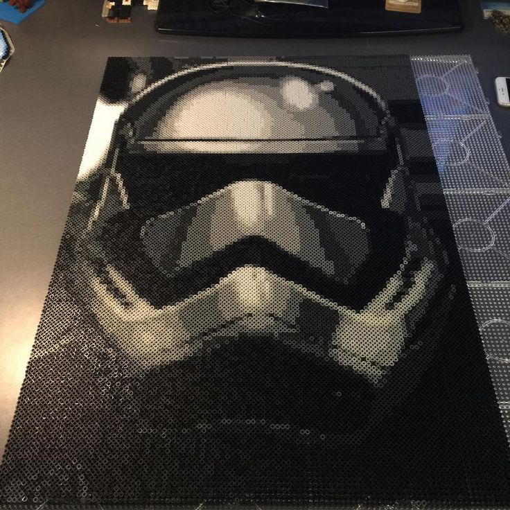 Stormtrooper - Star Wars perler bead art by Daniel Gustafsson