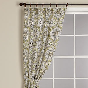 Mosaic Print Curtain Panel At Cost Plus 35 Would Like To See This In Living Room