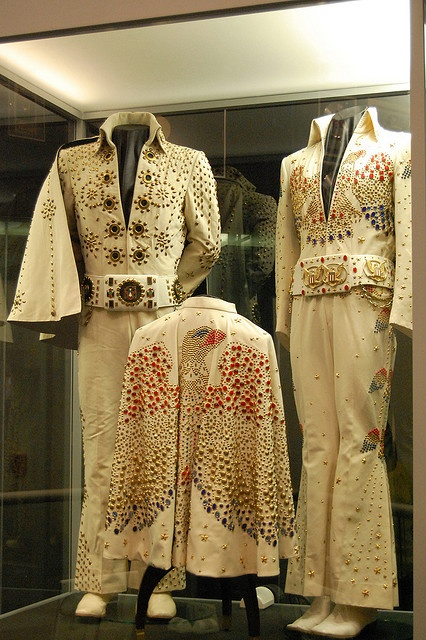 Elvis Presley's Jumpsuits at His Graceland Mansion in Memphis, Tennessee