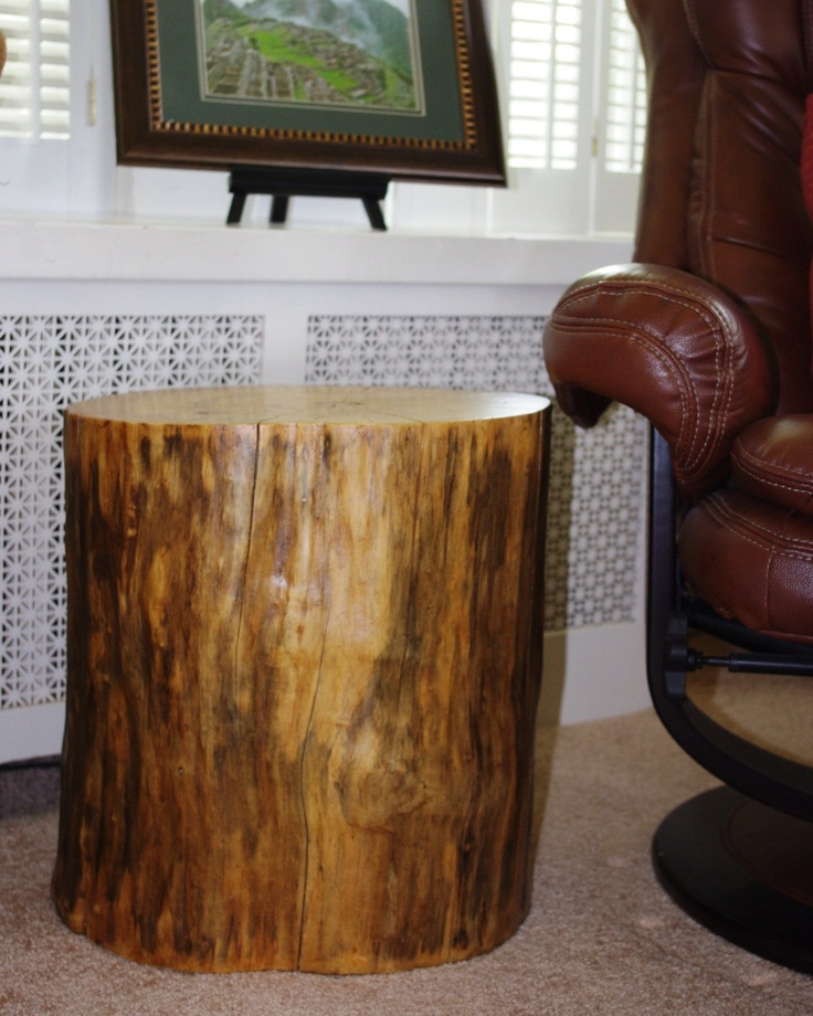 Tree Stump Table Elm End Table Rustic Home Office Decor Stump Furniture  Office Reclaimed Wood Ecofriendly