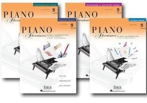 Faber Piano Adventures Level 2B Learning Library Set Lesson,Theory, Performance, Technique and Artistry Books  Nancy Faber Piano Adventures Level 1 - Lesson Book (HL.420171)(FF1078)  Nancy Faber Piano Adventures Level 1- Theory Book (HL.420172)(FF1079)  Nancy Faber Piano Adventures Level 1 - Performance Book (HL.420173)(FF1080)  Nancy Faber Piano Adventures Level 1 - Technique & Artistry Book (HL.420190)(FF1097)  Juliet Music is proud Gold Medallion dealer of Faber, All books are brand...