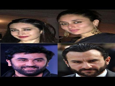 Kareena, Karishma, Ranbir, Saif spotted at Prithvi Theatre Juhu, Mumbai.