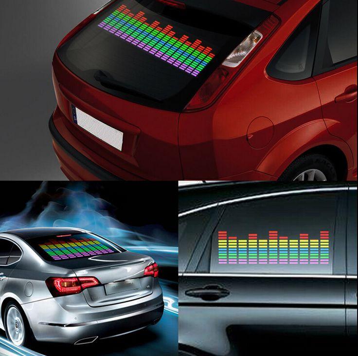 Voiture-LED-Autocollant-Musique-Rythme-Lumiere-Son-Active-egalisateur-80-19cm