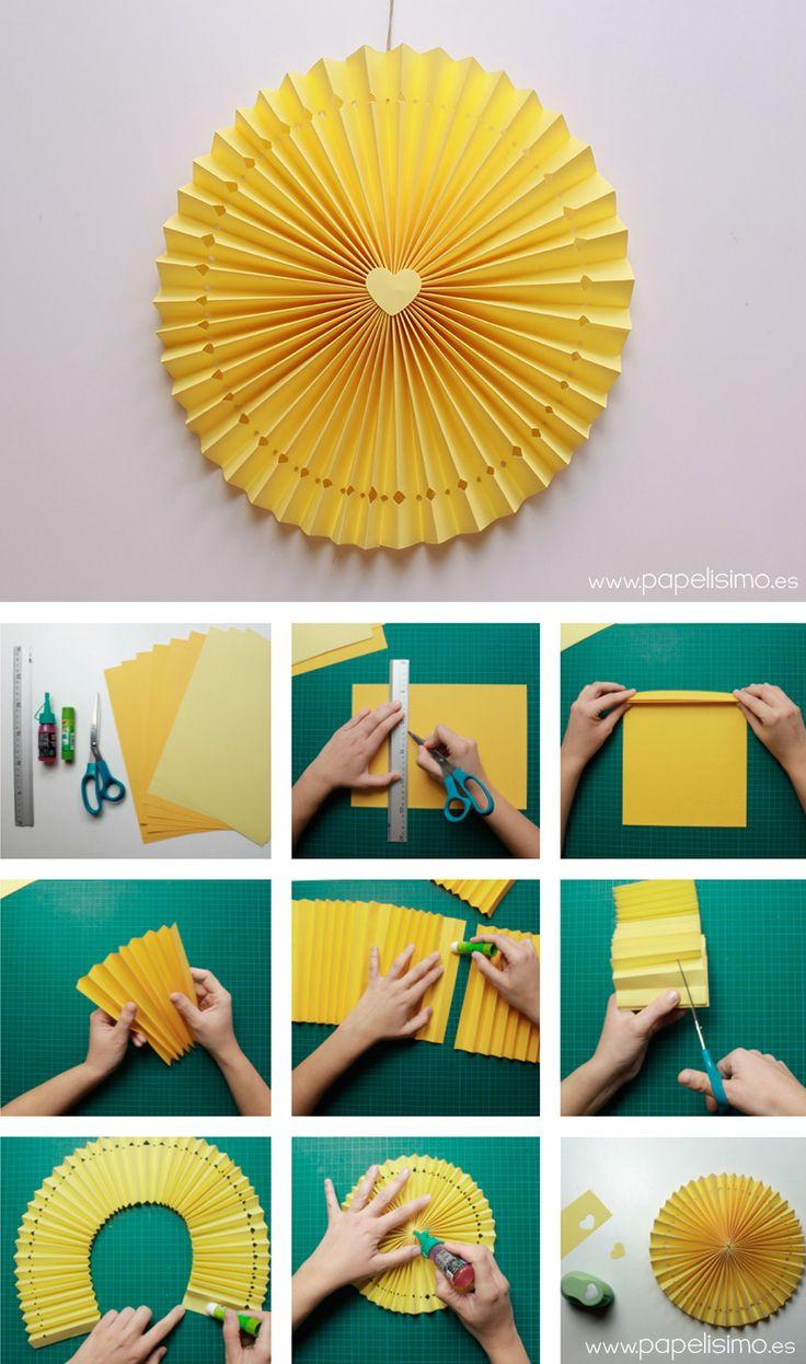 Roseton papel fiesta cumpleanos paper rosettes medallion 2 - Manualidades para cumpleanos ...