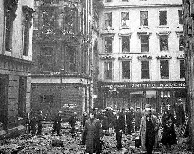 Clydebank blitz 1941 - Cowans Corner Bombed