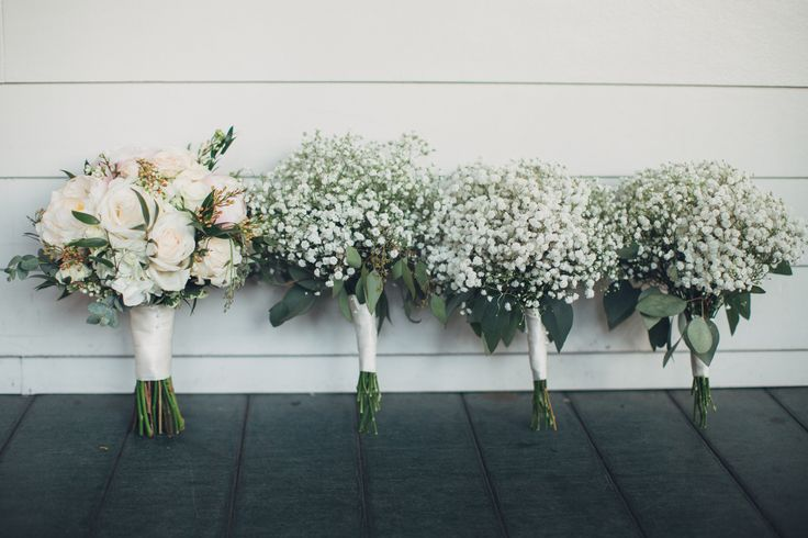 Romantic Blush and Baby's Breath Southern Bouquets