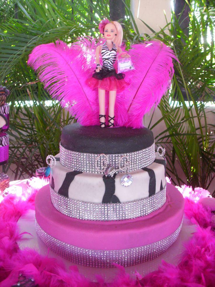 Torta motivo de Barbie