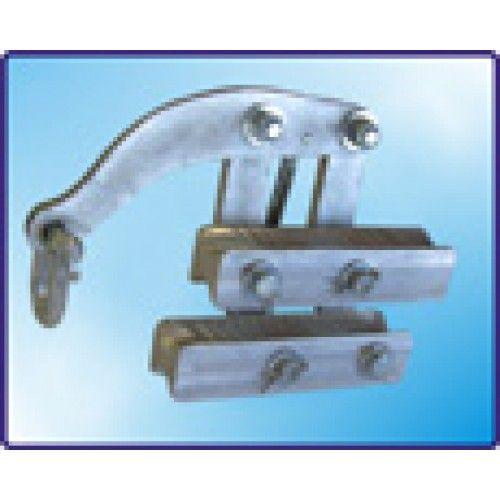 Самозажимной универсальный зажим.  Жабка применяется для фиксации самонесущего изолированного провода СИП во время натягивания линии. В зависимости от сечения провода используются разные типы жабки. Конструкция жабки не повреждает кабель/провод. Возможность использования для СИП 4х95