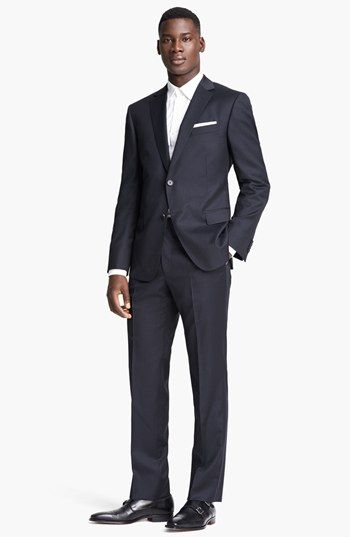 Zegna 'City' Navy Stripe Wool Suit | Nordstrom