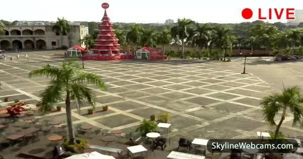 View of Plaza de España in the heart of Santo Domingo