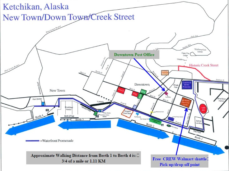Image Gallery Juneau Cruise Port Map