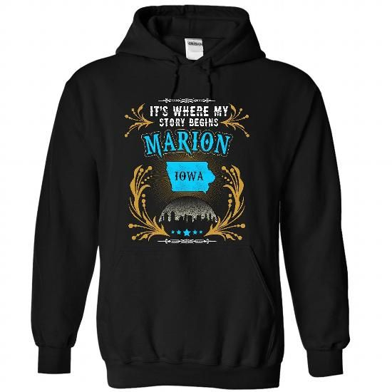 Marion - Iowa is Where Your Story Begins 2103 - #gift sorprise #personalized gift. HURRY => https://www.sunfrog.com/States/Marion--Iowa-is-Where-Your-Story-Begins-2103-7813-Black-31707683-Hoodie.html?68278
