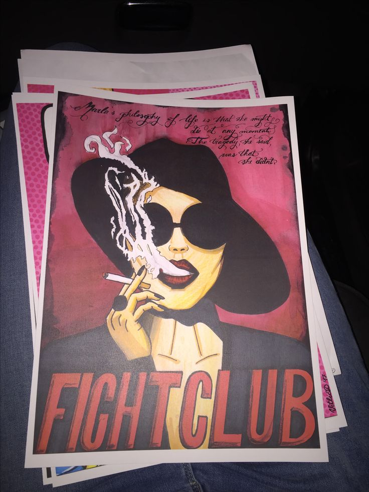 Marla Singer Art Fight Club Illustration Pop art