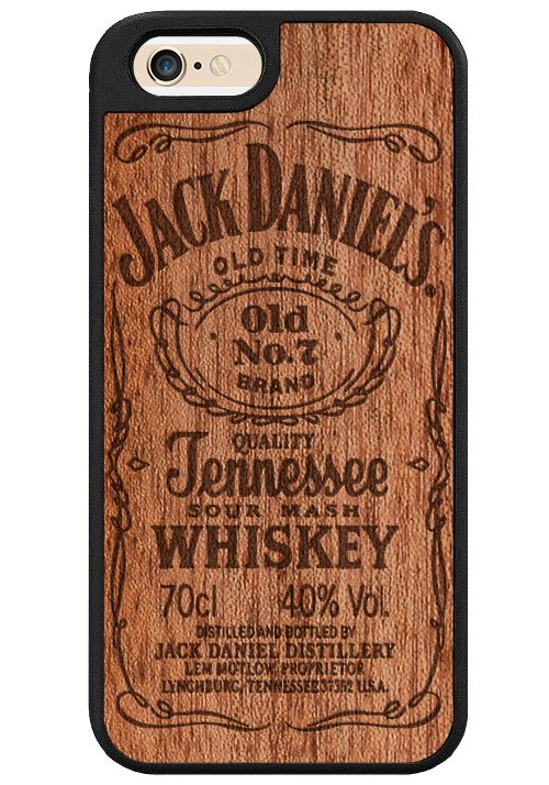 Jack Daniels famound No 7 logo carved on real wood wood. We improved our cases for more protection. The case is made of PC with soft TPU around the edges provides most resistance and protection for yo