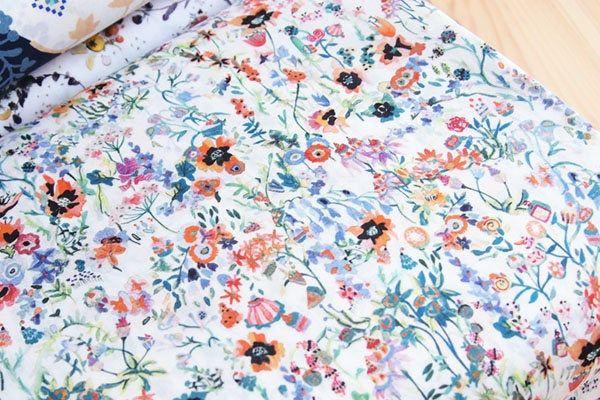 50cm - floral picnic Cotton Tana Lawn Fabric Liberty of London