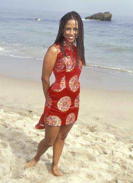 Stacey Dash at the #Clueless premiere, Zuma Beach, July 7th, 1995