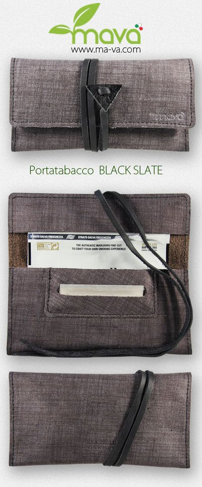 #Portatabacco in pelle Black Slate! #tobaccopouch #rollingtobacco #madeinitaly #realleather https://www.ma-va.com/portatabacco-in-pelle/133-portatabacco-black-slate.html