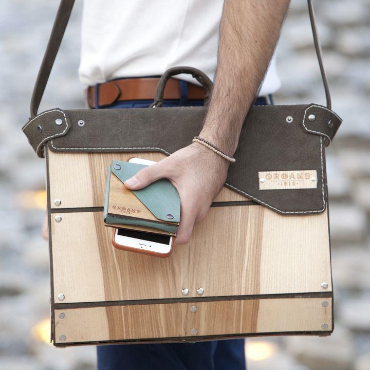 wooden mailbox & wallet