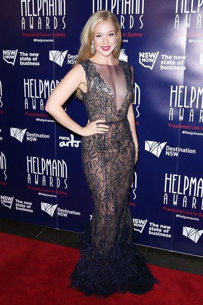 Celebrity Emily Langridge wears Philippa Galasso to the Helpmann Awards Sydney