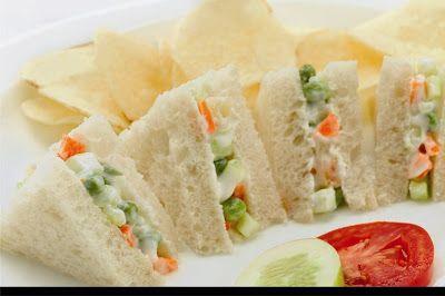Russian Salad Sandwiches by Chef zubaida Tariq - Creative Recipes